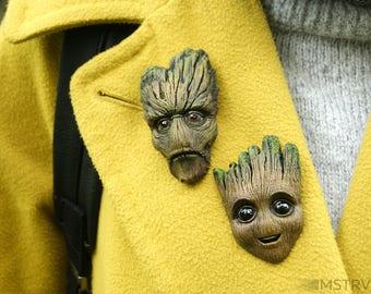 Baby Groot Brooch - Groot brooch - I am Groot - Comix - Groot pin