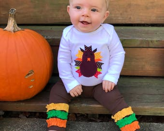 Thanksgiving Baby Outfit, Turkey Baby Outfit, Girl Thanksgiving Outfit, Thangiving Bodysuit