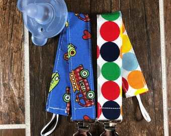 Baby Boy Paci Clips, Pacifier Clips, Binky Clip, Teething Toy Clips, Dummy Clips, Pacifier Holder, Teething Clip Holder, Baby Gift, Set of 2