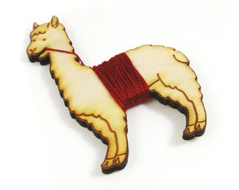 Flossy the Llama Embroidery Floss Bobbin