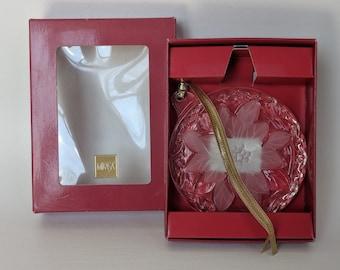 Mikasa Festive Poinsettia round ornament