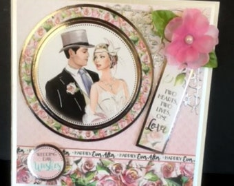 Wedding, Couple - This gorgeous Wedding card is almost a gift in itself.