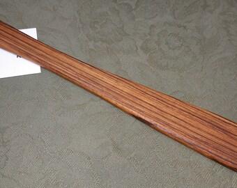 Zebrawood Miss Rose Paddles Exotic Hardwood Spatula Ruler Discipline Stick ZE124