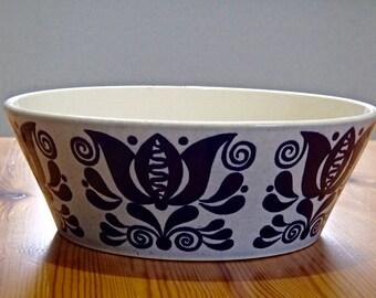 Size L Sweet Bowl bowl season STONEWARE 60 s 70 s