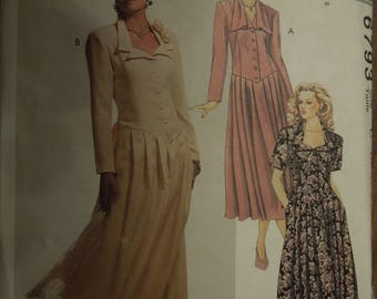 McCalls 6793, sizes 10-14, misses, petite, dress, UNCUT sewing pattern, craft supplies