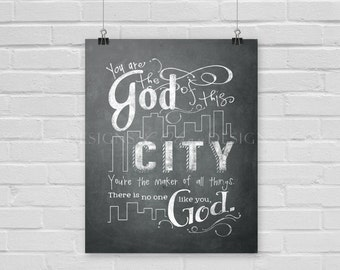 God of This City Wall Art - Gray - 8x10 - DIY Printable - INSTANT DOWNLOAD