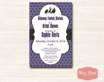 Haunted Mansion Bridal Shower Invite