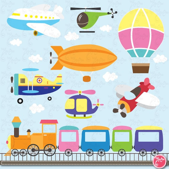 Brand new Transportation clip art: CUTE TRANSPORTATION NA45