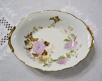 Vintage Halsey Autumn Dawn Oval Vegetable Bowl Pink Brown Floral 562 Replacement Japan PanchosPorch