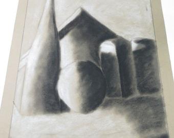 Original Charcoal Still Life Charcoal Drawing