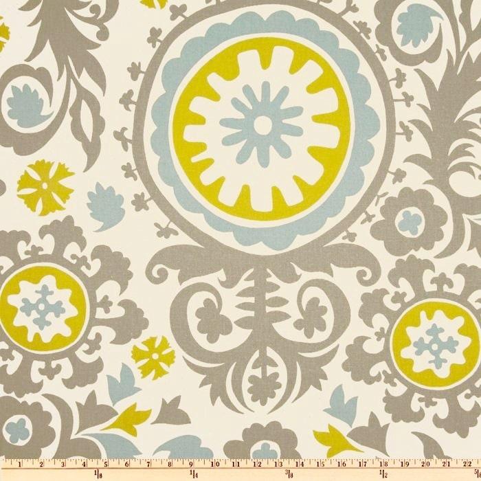Suzani Fabric byt the BOLT Wholesale Summerland Premier Prints grey ...