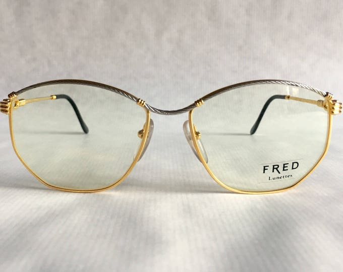 Fred Force 10 Cythere 22Kt Gold Vintage Eyeglasses Made in France New Old Stock including Case