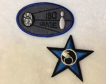 Unused vintage bowling patches