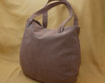 Everyday tote bag / oversized bag / casual bag / shoulder bag / faux suede bag / light brown color