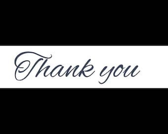 Thank you party favour tag with heart (x60)