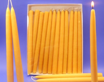 "Beeswax Tapers, 50 Pair of 3/4"" x 10"" Bees Wax Candle Tapers, Bulk Lot of 100 Candles, Wedding Candles, Candles For Weddings, Dining Candles"
