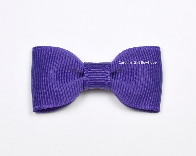 Deep Purple Baby Hair Bow ~ 2 in. Bow with No Slip Grip ~ Small Hair Bows Newborns Toddler Girls