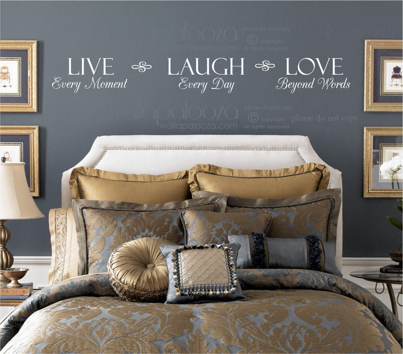 Live Every Moment Laugh Every Day Love Beyond Words Wall Decal