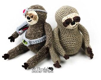 Sloth Crochet Pattern - Sloth Amigurumi Pattern - Amigurumi Pattern - Crochet Sloth - Cyborg Sloth - Unique Crochet Patterns