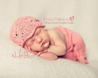 Knitting PATTERN - Lace Hat Knitting Pattern - Knit Lace - Baby Knitting Patterns - Includes 5 Sizes Newborn to Large Adult - PDF 133