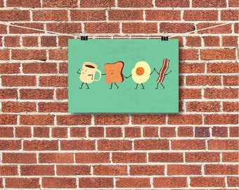 "Kitchen Decor, ""Lets all go eat Breakfast"""
