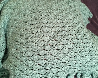 Mint Green Shell Baby Blanket