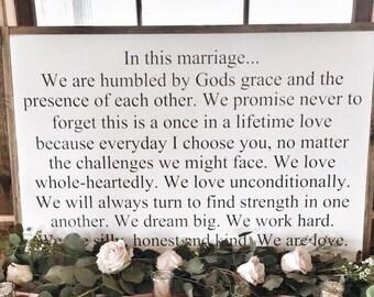 Marriage rules sign | 24x48 custom wood sign | farmhouse wood sign |