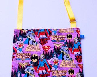 Washable, Eco-Friendly Car Trash Bag in Female Superheroes Fabric