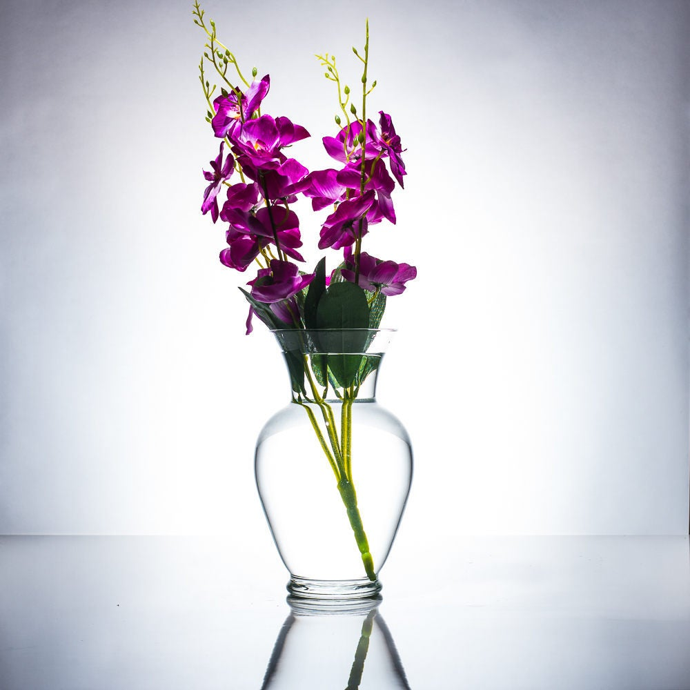 Blue/Purple/White/White with purple Orchids Floral Wedding
