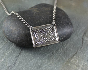 Celtic Griffin pendant necklace ~ Artisan Handcrafted