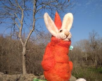 Wool bunny Felted Bunny Needle felted rabbit White Rabbit Felted animal Felted wool bunny Miniature animal Felt toy Easter bunny