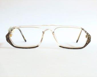 Deadstock vintage 1990's Arlecchino 390 C358 square model Glasses.