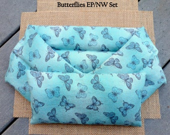 Microwave Heating Pad, Neck Wrap and Eye Pillow, Rice Heating Pad, Meditation, Hot Cold Therapy Pack, InHer Inner Peace