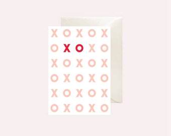 XO Valentines Printable Card - Instant download Valentine - PDF