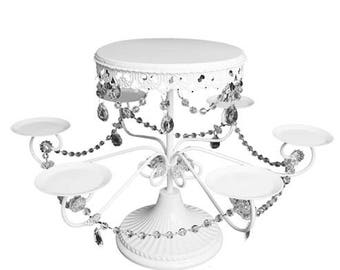 "18.5"" Cake Stand w/ Arms - Metal (1) - for table decorations"