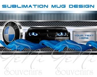 Printable Mug Design,Sublimation Mug Print,Editable Mug Template,BMW Mug Print,jpg mug mockup,car lovers editable mug,jpg mug print download