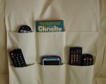 Remote Control Caddy 6 pocket Cream/Beige
