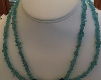 Unique chalcedony necklace
