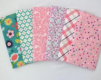 Teal Enchanted Riley Blake One Yard Fabric Bundle