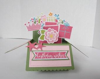 Pop Up Box Card - Happy Birthday