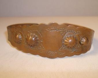 Vintage copper bangle bracelet