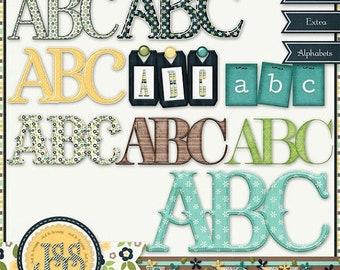 On Sale 50% Just Be You Alphabets Digital Scrapbooking Kit