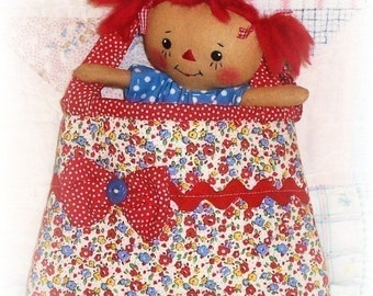 Small Tiny Rag Doll PATTERN, Small Purse Tote PATTERN, PDF sewing pattern, Cloth Doll Pattern, Little Girl,
