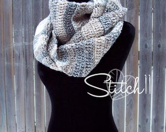Simple Infinity Scarf Crochet Pattern | Crochet Scarf Pattern | Infinity Scarf | Crochet Scarf Pattern | Easy Crochet Pattern | PDF Download