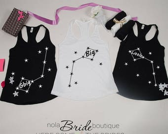 Big Little GBig GGBig Sorority tanks, sorority tank, Little Big, Greek shirt, Little sister, Big Sister, Big and Little shirts d69