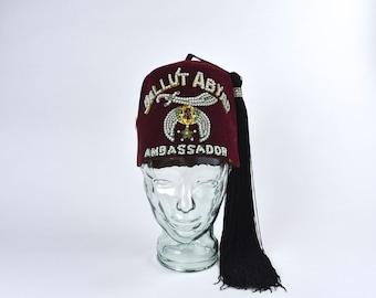 Ballut Abayd Ambassador Shriners Fez Cap by Harry M. Osers