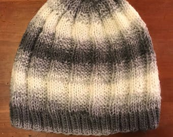 Grey Gradient Knit Hat