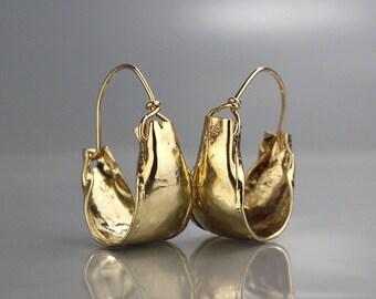 Gold Filled Hoop Earrings, Boho Hoops, Statement Hoops, Statement Earrings, Boho Chic, Gift for Women, Hoop Earrings, Gold Filled Hoops