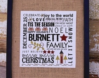 Christmas Name Picture Iron On Label