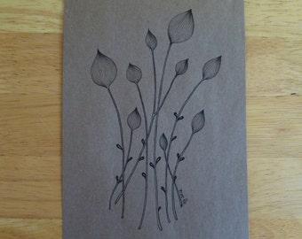 Paper Bag Print - Onion Pods 5x7 Digital Art Print